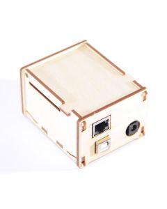 Holz-Gehäuse für Arduino Uno und Duemilanove mit Ethernet-Shield
