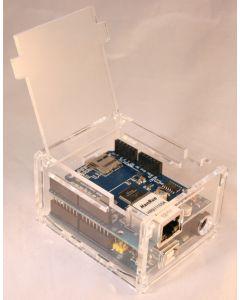 Plexiglas-Gehäuse für Arduino Uno und Duemilanove mit Ethernet-Shield